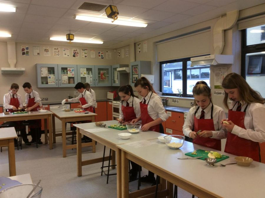 An example of a Home Economics class