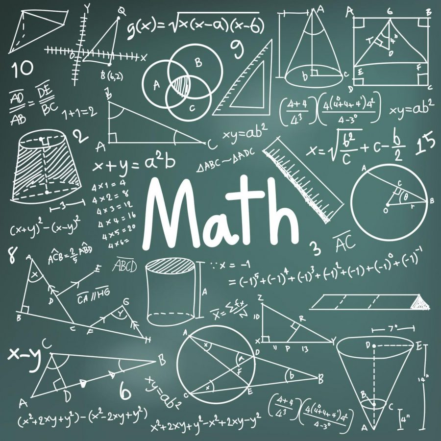 50745254 - math theory and mathematical formula equation doodle handwriting icon in blackboard background with hand drawn model used for school education and document decoration, create by vector